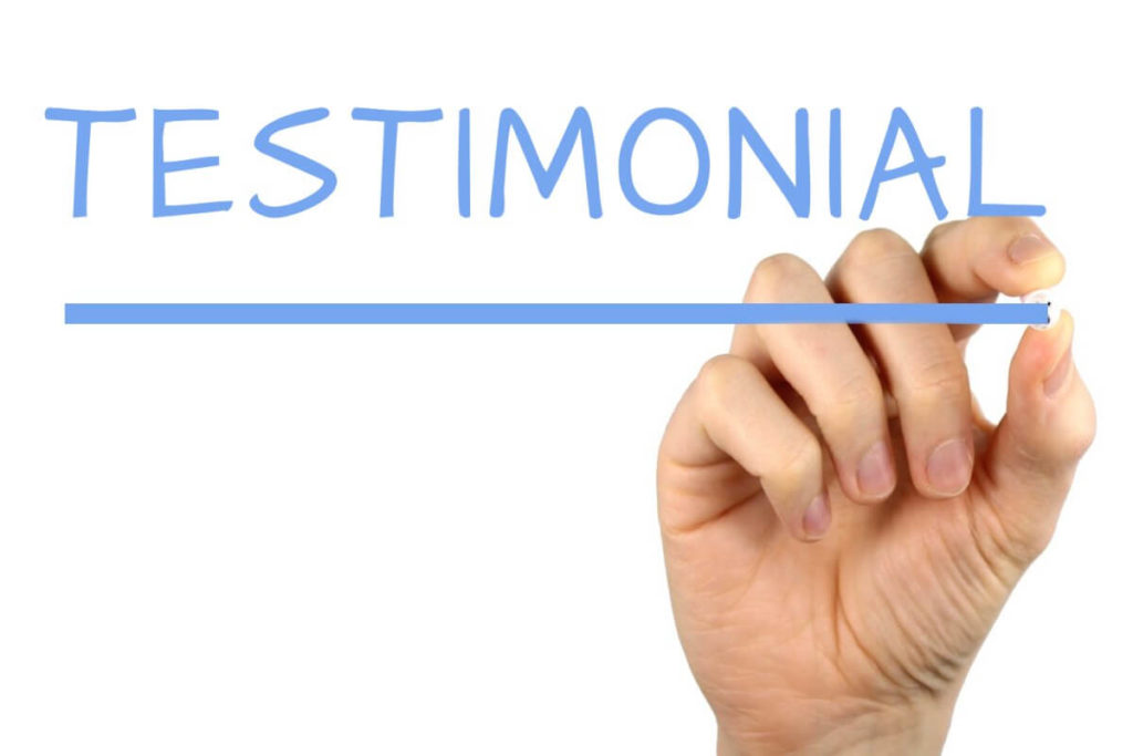 Video Testimonials of the customers